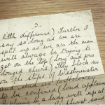 Suffragette speech handwritten by Emmeline Pankhurst