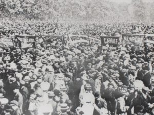 Thousands of Suffragettes Gather