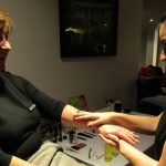 Hand and arm massages by the Village Spa with Beverley Davis of The Ivory Dressing Room