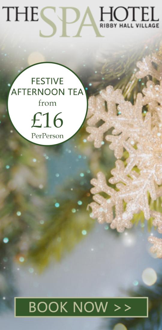 Ribby Hall Spa Hotel Festive Afternoon Tea