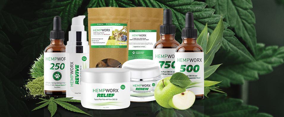 HempWorx product line