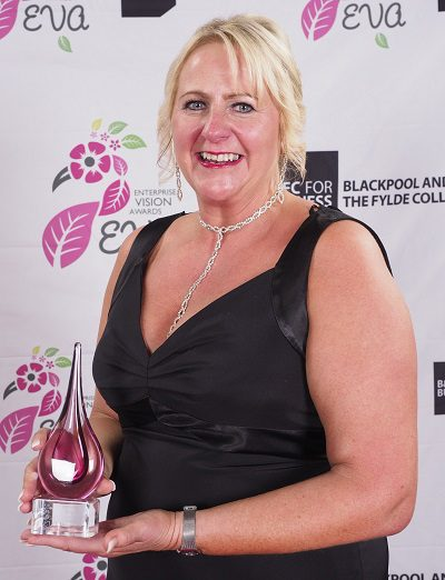 Alison Magee-Barker of AJ Lakes Enterprise Vision Awards winner