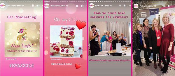 Pink Link Ladies Instagram Stories