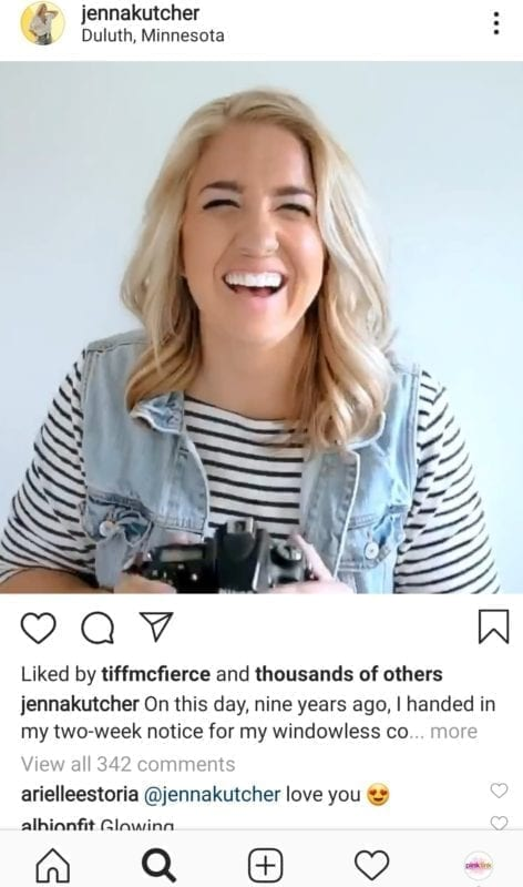 Pink Link Instagram Tips and Tools Jenna Kutcher