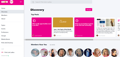 Stay connected with Pink Link Ladies Mighty Networks