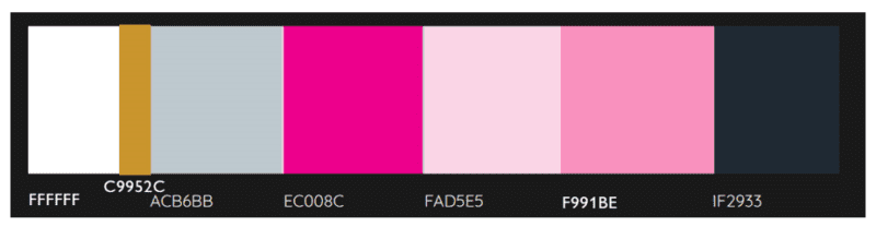 Pink Link Ladies cokour palette