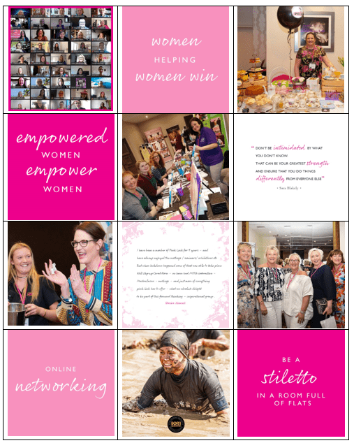 Pink Link Ladies Instagram grid