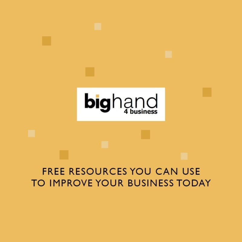 Big Hand for Business Free Resources To Improve Your Business Today blog