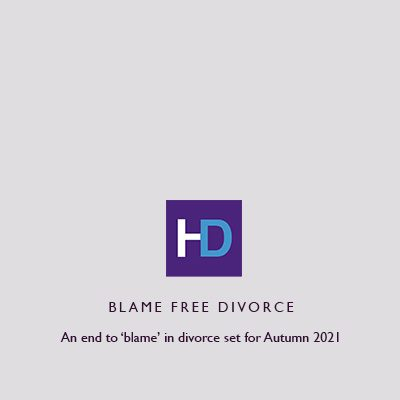 Jenna Atkinson of Harrison Drury explains how a new law will enable blame free divorces in 2021