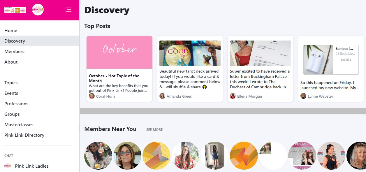 Pink Link Online Networking Community for women in business