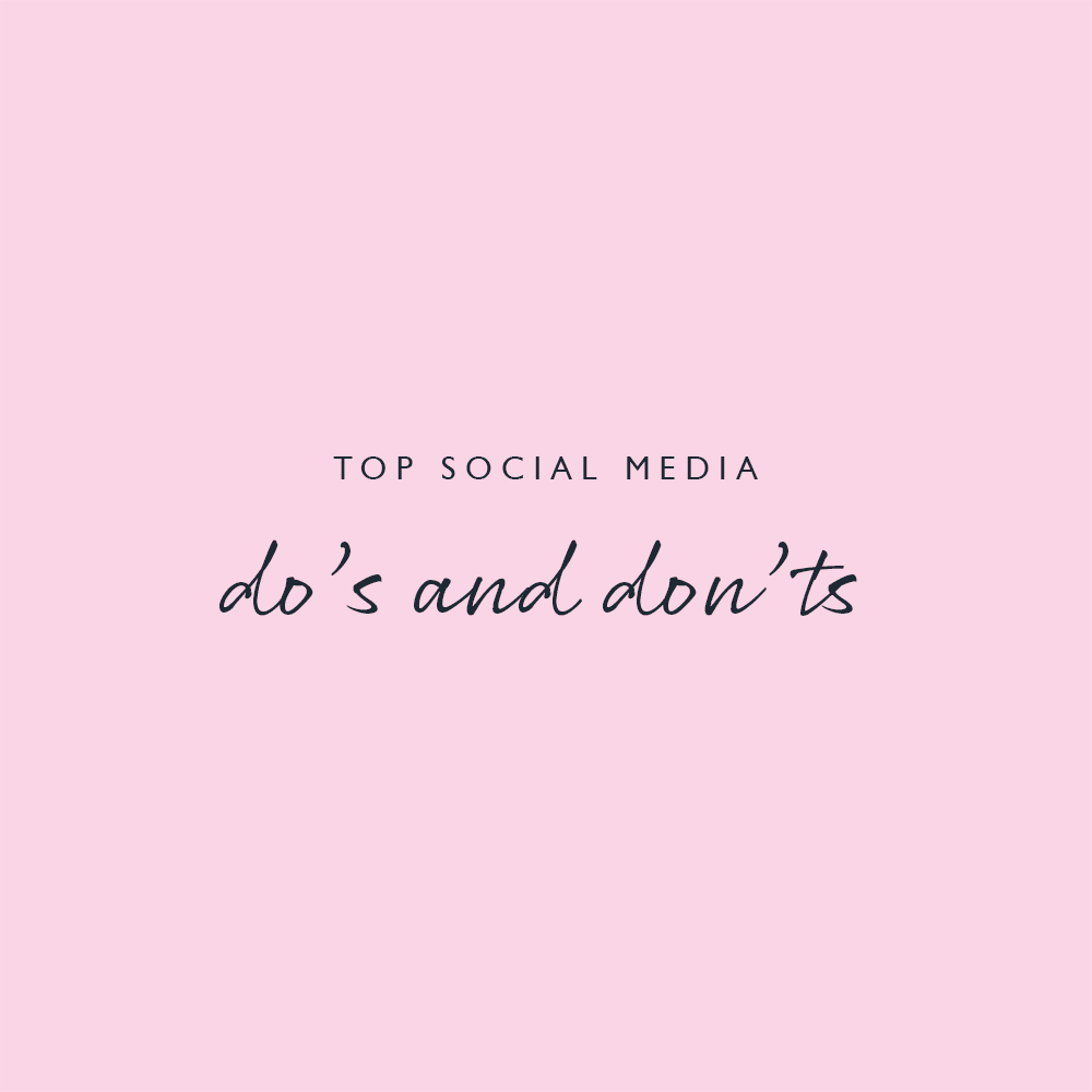 Pink Link Ladies Top Social Media Dos and Donts