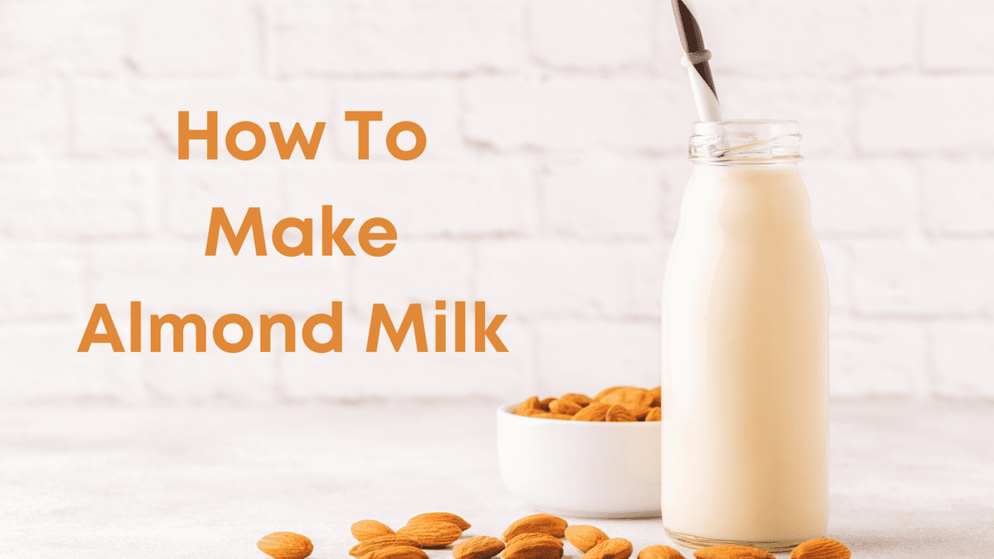 Making homemade almond milk is a super easy and very quick way to have an alternative to animal milk.